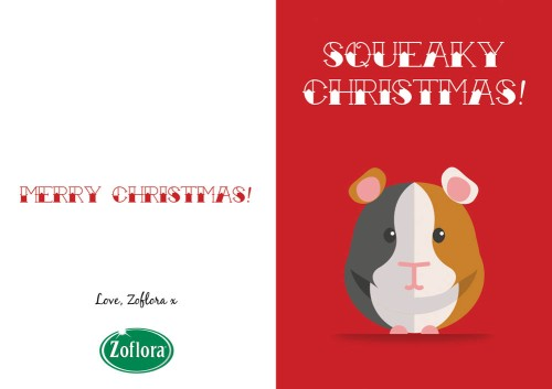 Guinea Pig - Printable Christmas Cards from Zoflora