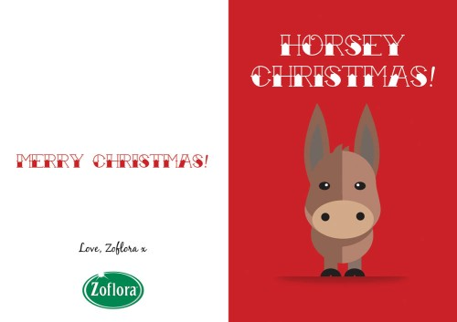 Horse - Printable Christmas Cards from Zoflora