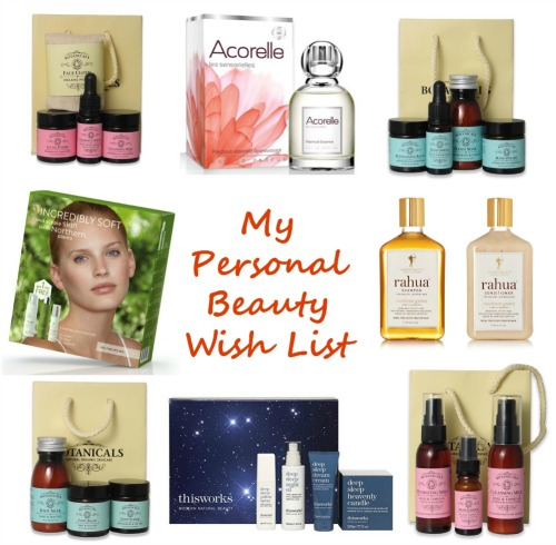 My Personal Beauty Wish List