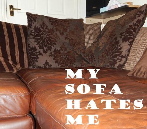 My sofa hates me