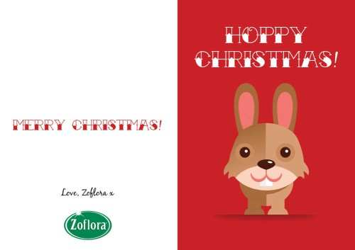 Rabbit - Printable Christmas Cards from Zoflora
