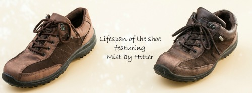Lifespan of the shoe featuring Mist by Hotter