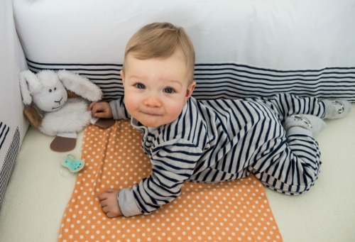 Baby #ootd - Comfy at Home for Stripe Lovers – Nap time